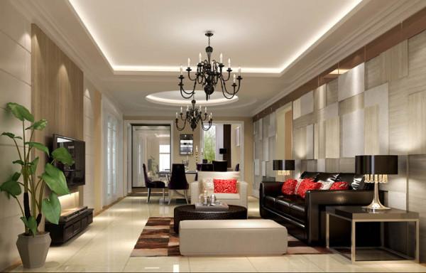 """沙发色调的选配,成为整个客厅的重中之重,避免了设计""""头重脚轻""""的尴尬"""