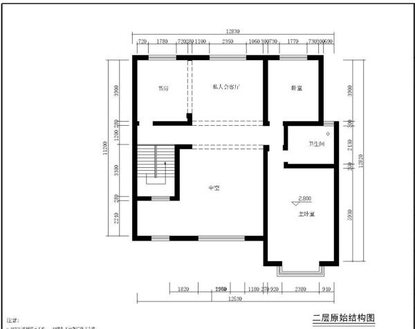 九台山庄350平简欧风格案例赏析户型图