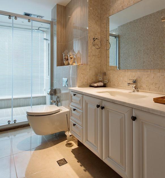 卫生间设计独特,马桶不容易有卫生死角