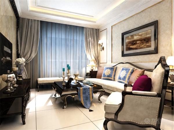 本案为象博豪庭C户型2室2厅1卫1厨91.05㎡户型。这次的设计风格定义为新古典风格。