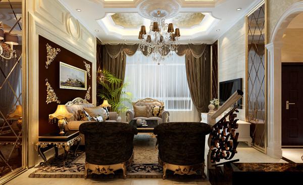 客厅温馨、时尚、美观,采用了白色和浅咖啡色相搭配加以个性化的影视墙菱形造型加以樱桃木的优美含蓄配以顶面局部的灯光,相交融。以简洁明快的设计风格为主调,体现了主人的品格,地位