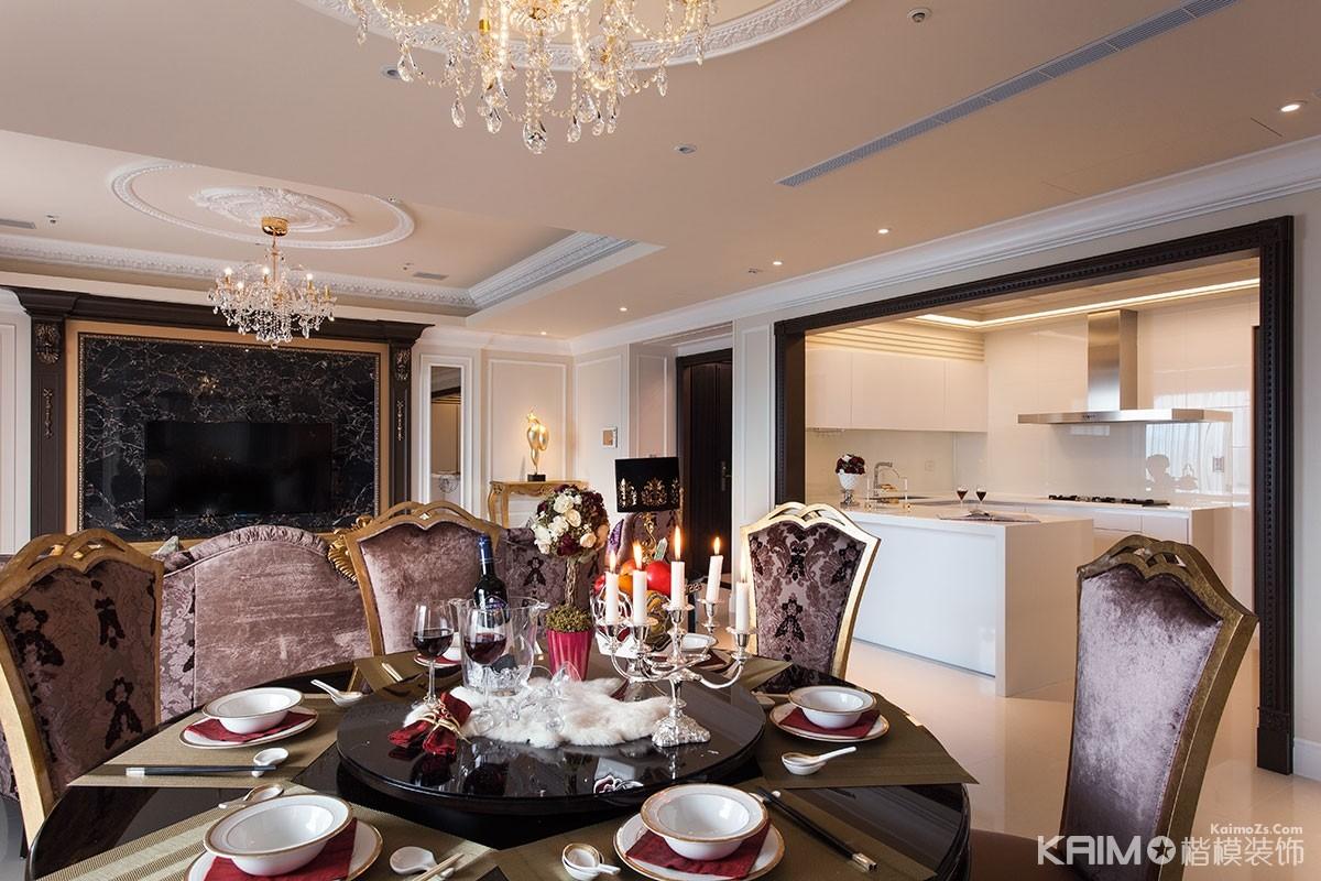 别墅的餐桌就是豪华