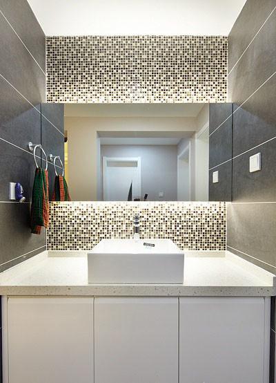 卫生间做了干湿分离,简约造型的台上盆非常喜欢。