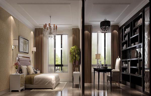 卧室兼书房的设计,简洁,大气,简约而不简单