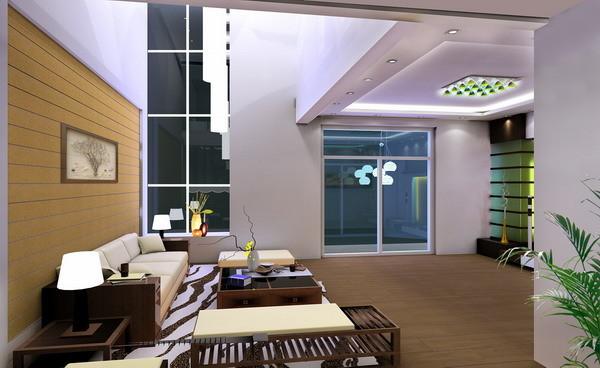 配以柔和的光带,既有良好的吸音效果,又能在不同角度释放空间的幻想。