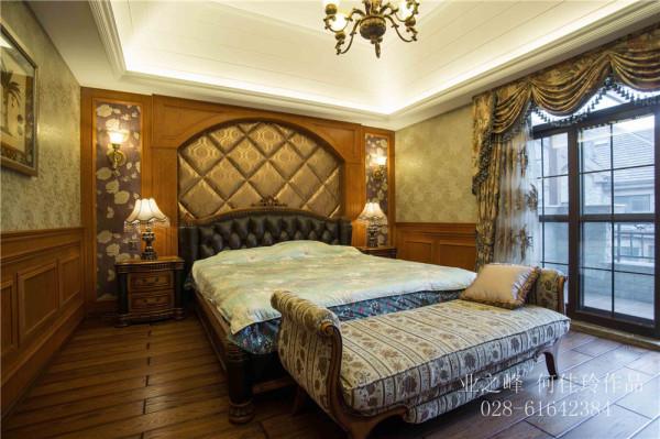 成都别墅装修——美式风格卧室实景图