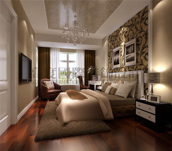 大成郡卧室效果细节图 成都高度国际装饰设计
