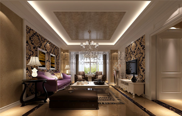 大成郡客厅效果细节图 成都高度国际装饰设计
