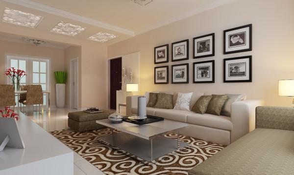 客厅沙发整体效果、走廊设计效果
