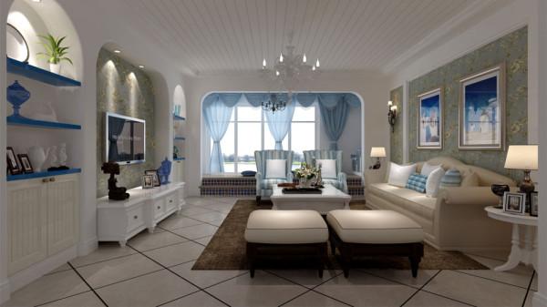 """本方案是采用以现代地中海为主设计理念。当疲惫的身心对家的依恋越发强烈,人们想要的是轻松、自由的环境,""""地中海风格""""自然就成为家居设计的一种风尚。注重大小色块间的组合,地域性的后期配饰融入设计风格之中。"""