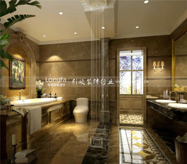 保利香槟国际300平米美式风格别墅装修设计案例-龙发装饰FA别墅装修设计机构全国前十强