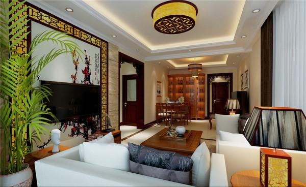 为满足客户家里老人与年轻人共同居住的需求,将房屋设计风格定为中式风格。  中式风格讲究层次感。客厅与阳台之间的垭口与镂空雕花的结合,不只增添了中国化的元素,更增添了房间的层次感。