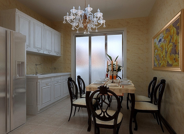 在设计过程中注重线条的搭配和颜色对空间气氛的营造,在造型设计的构图理论中吸取其他艺术或自然科学的概念,把传统的装饰元素通过重新组合寓情于景,室内大量运用白色元素,现代感十足。