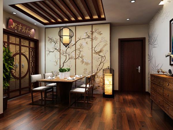 此户型为天房彩郡高层标准层户型2室2厅1卫1厨 ,该户型的设计风格为中式风格。整个空间以暖色调为主,暖色的光源给空间营造了温馨舒适的感觉。