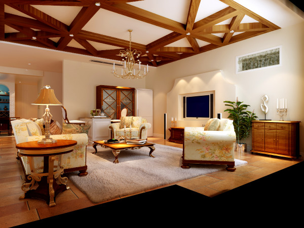 仔细看休息厅,美式典雅的沙发、格栅吊顶、纯色地毯、鹅黄色墙漆等等,柔和的舒适之感传递出来;在此休息看书喝茶都可享受乡村古朴悠闲之气。