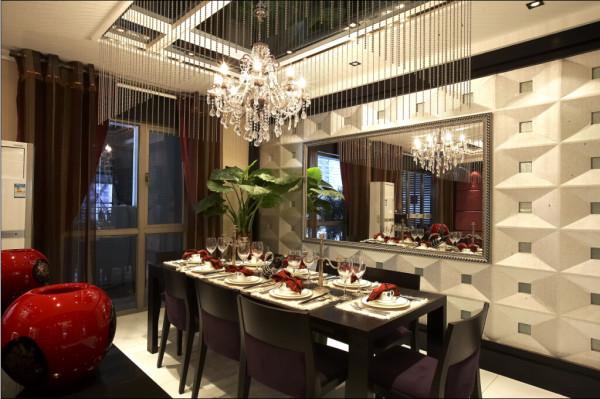 """设计理念:""""形'的设计以中式的""""回""""文字作为基本元素展开设计联想 亮点:餐厅背景"""