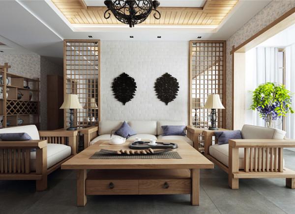 客厅设计理念:增进空间的空间感 亮点:简单的颜色搭配,仿古砖与实木家具的简单结合,衬托出生活的品质感 此户型以现代中式风格为主题,设计中打破了中式设计的观念