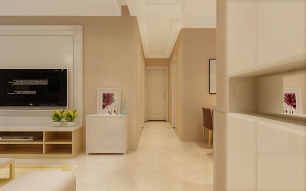 郑州锦艺国际华都两室两厅现代简约装修效果图