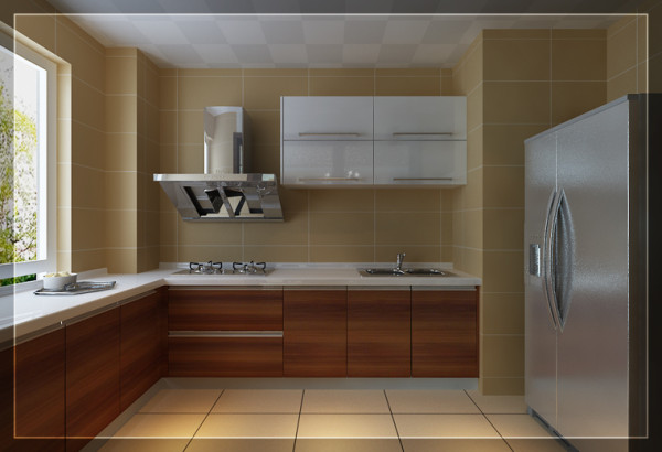 地柜,吊柜的合理运用让厨房的空间更加合理实用、清晰明朗。