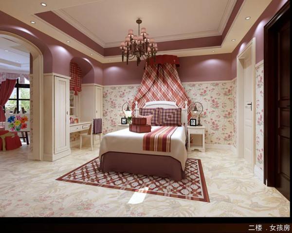 粉色清新可爱的公主房图片