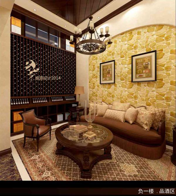 业主较喜欢收藏红酒,为业主专门设计了一个品酒区域