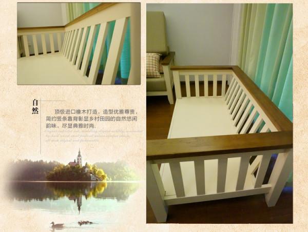 沙发下面是整块实木,后背有些倾斜更加符合人体坐卧的习惯。