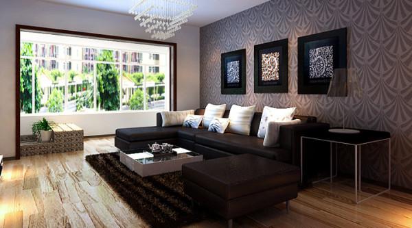 客厅整个空间是黑白色调,非常现代,符合现在年轻人的一个审美需求,沙发背景墙使整个空间看起来既时尚又大气。卧室整体比较简单 但是整体效果看起来非常安静休闲,营造了一个休息的氛围。