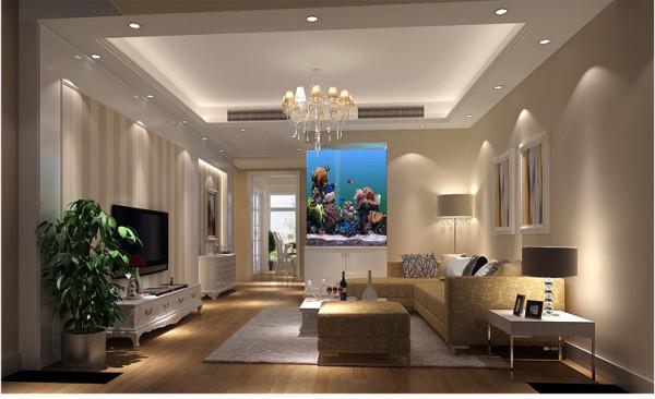 泰悦湾112平米客厅户型图效果细节图 成都高度国际装饰设计