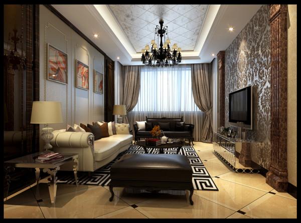 天通苑西三区96平米两居室户型客厅效果图展示
