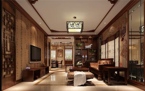 华侨城东岸客厅户型图效果细节图 成都高度国际装饰设计