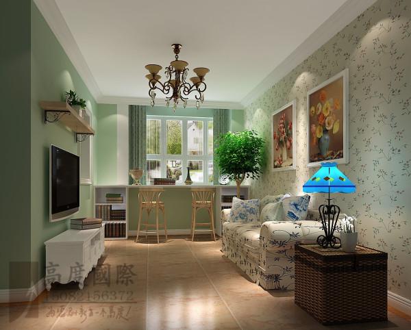 沙河锦庭客厅细节效果图-×成都高度国际装饰