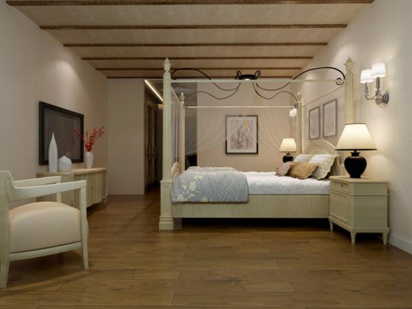棕榈泉两居室户型卧室效果图展示