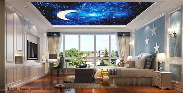 清水湾二层儿童房细节效果图-成都高度国际装饰