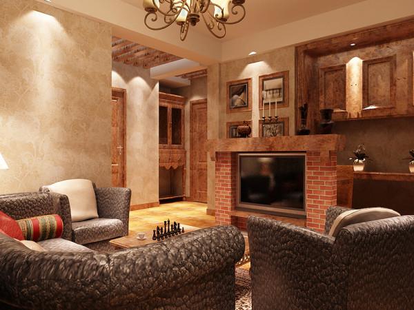 本户型为钻石山三室两厅的户型,本案设计风格为美式风格。