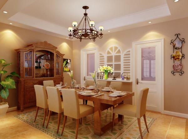设计师采用了木质与布纹搭配,家居自由随意、简洁怀旧、实用舒适;暗棕、土黄为主的自然色彩,方显美式更美。
