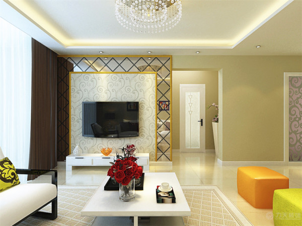 本方案是华润橡树湾-茗润轩-2室2厅1卫1厨,其面积为87.5平米。风格为简约风格。