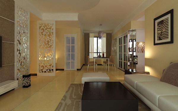 餐厅顶均做了石膏线以增加居室层次感,并在餐厅区制作了酒柜,以增加居室的实用性与温馨感。餐厅背景墙采用了酒柜增加温馨感和家庭的温暖,采用水晶吊灯彰显大气。