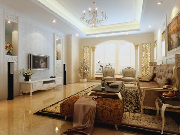 客厅采用反射式灯光照明和局部灯光照明,置身其中,舒适、温馨的感觉袭人,让那些为生活奔波的人找到了归宿。