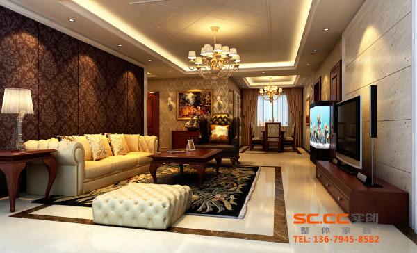 客厅的墙面发出的是淡雅清新的现代简欧味道,时尚的沙发与电视背景墙的呼应,让整个客厅营造出时尚、高贵、轻松、愉悦的视觉感空间,营造出一个朴实之中的时尚简欧家居设计