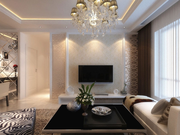 客厅采用软式花纹地毯!!