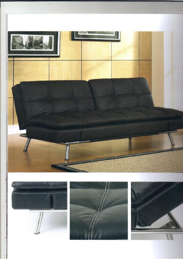 PU皮三人沙发床1.8米