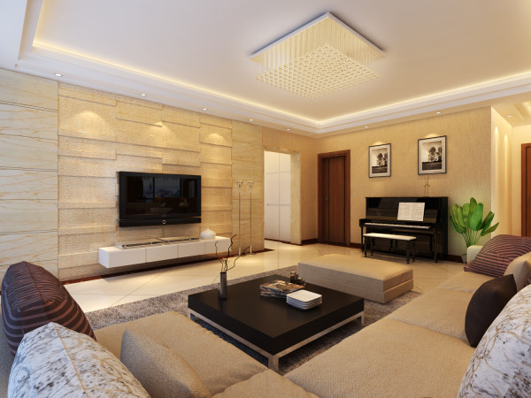 客厅简约风格设计效果图
