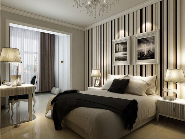 正商蓝海港湾130平方三室两厅装修样板间-卧室简约风格装修效果图