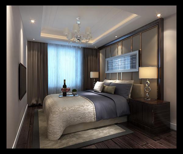 现代住宅的发展,小家庭的组建,人们心理上的要求,希望卧室具有私密性、蔽光 性,配套洗浴,静谧舒适,与住宅内其他房间分隔开来。我设计的卧室除了摆放双人床外,留有一定的面积摆放卧室家具