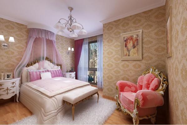 儿童房很温馨,很可爱。淡淡的粉,浅浅的黄,毛绒绒的地毯,多少女孩心中的乐园。