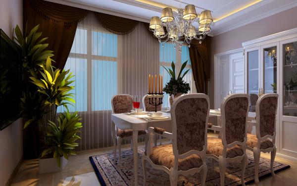绿城百合180平方四室两厅装修案例-餐厅装修效果图