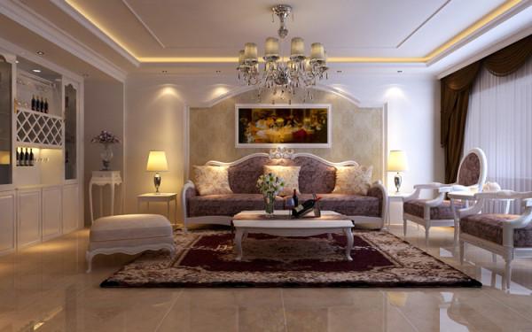 绿城百合四室两厅180平方装修方案-客厅装修效果图