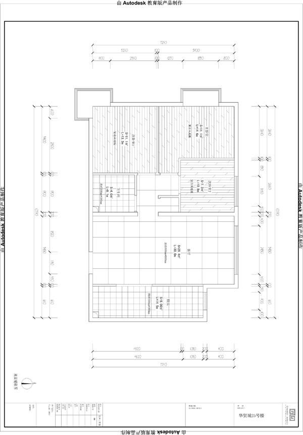 华贸城25#C3 三居户型案例分析——地面布置图