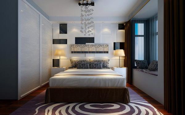 正商蓝海港湾130平方三室两厅装修案例-主卧室装修效果图