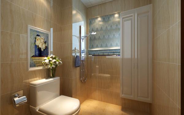 绿城百合180平方四室两厅装修方案-卫生间淋浴装修效果图